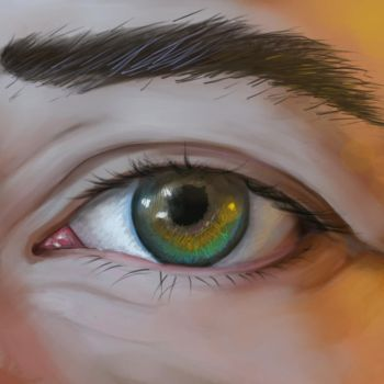 Speed paint Eye by Andacalagon