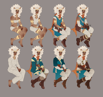 The White Shaman - Helki Outfit Reference Sheet by Miss-Pannacotta