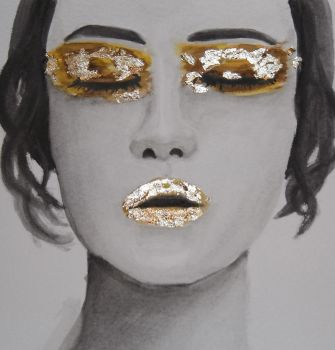 Gold eyes, gold lips by rossparsons