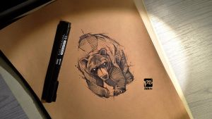 Bear Sketch Psdelux --SOLD-- not longer available by psdeluxe