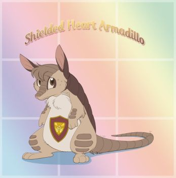 Shielded Heart Armadillo by ThisCrispyKat
