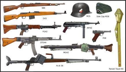 WW2 - German infantry's weapons by AndreaSilva60