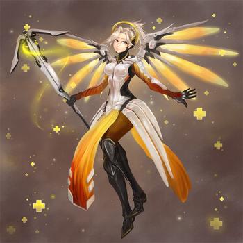 Overwatch Mercy: Heroes Never Die by Ainiwaffles