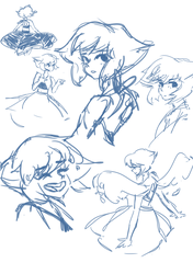 Lapis Sketches by leafpoolTC