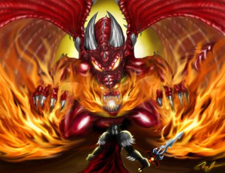 Galanoth vs Red Dragon by Xzeromus