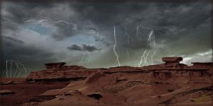 Bisti Storm 2 by MichaelAtman