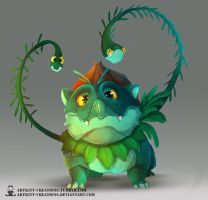 Kanto -  Ivysaur by ArtKitt-Creations