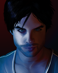 Damon - The Vampire Diaries by geepeee