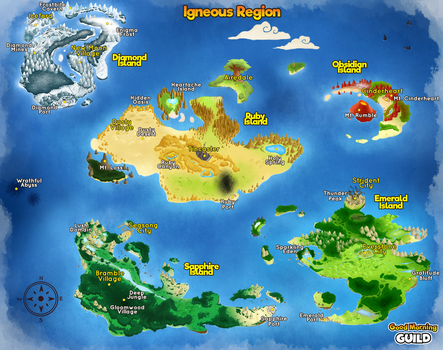 [GMG] Igneous Region World Map by LabonBull