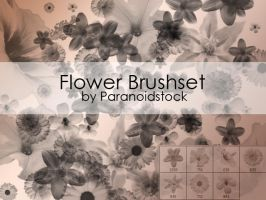Flower Brushset by paranoidstock