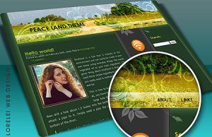 Peaceland wordpress theme by Loreleike