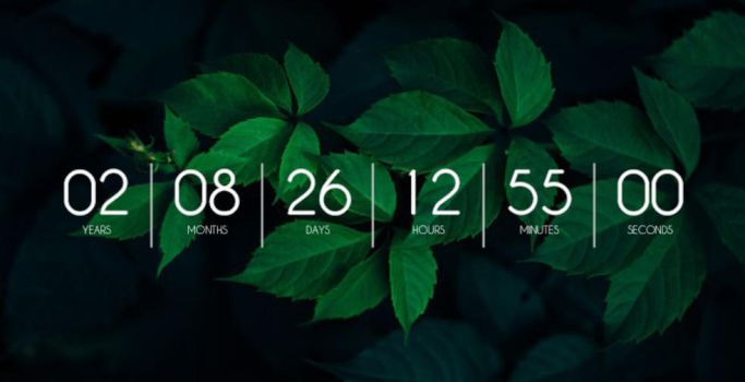 Countdown Timer for Rainmeter by themagnumizer