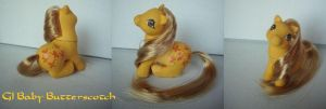 MLP My little Pony Custom Baby Butterscotch by BerryMouse