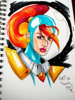 Galaxy Girl (FIRE HAIR!) by amtaylor12
