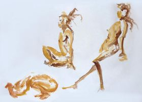 Life Drawing - May 2013 by Gizmoatwork