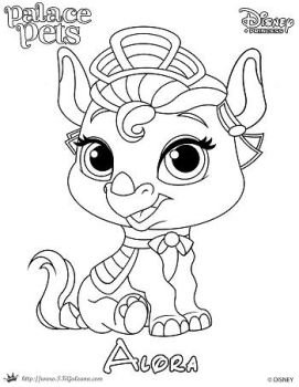 SKGaleana 7 0 Alora Princess Palace Pet Coloring Page By