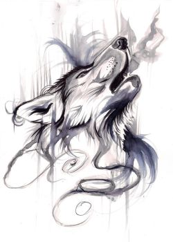 Ink Wash Wolf by Lucky978