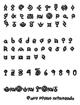 UNOWN Font by MangaShino