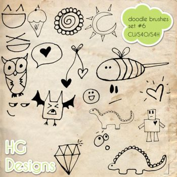 Doodle Photoshop Brushes 6 by HGGraphicDesigns