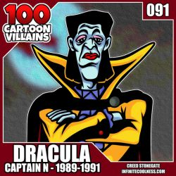 100 Cartoon Villains - 091 - Count Dracula! by CreedStonegate