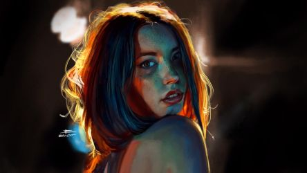 Pretty Girl Lighting Study by BeniaminoBradi