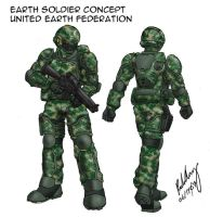 Earth Soldier Concept Sketch by Skunk-Works