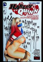 Harley Quinn Sketch Cover by Leia Olliver by leiaolliver