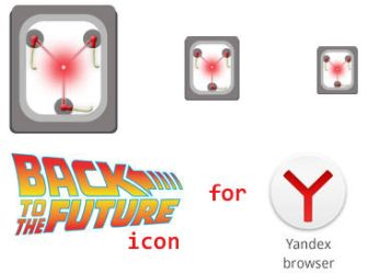 Back to the future icon for Yandex browser by 13iangel