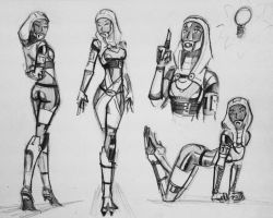 sketches Tali (114) by spaceMAXmarine