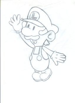 Paper Luigi Sketch by TheFrogPrince