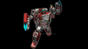 Explorer Jetfire - Blade Uppercut by Galvanitro