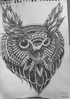 Owl Rendition by Josephinesabina