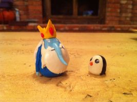 Ice King and Gunther by Schmop