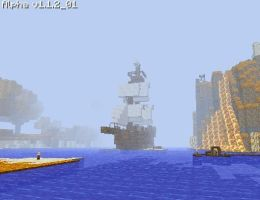Tall Ship in Fog, Minecraft by JellyfishGreen