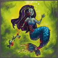 zombie mermaid by victorroa