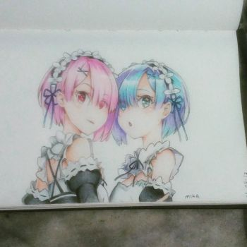 Ram and Rem finish *-* by MikaYazamant