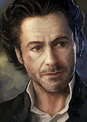 Robert Downey Jr. Sherlock Speed Paint Study by charfade