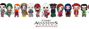 Assassin's Creed Chibi Bundle by Laura-Bosley