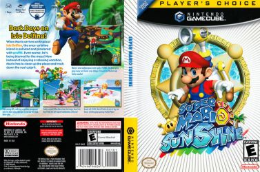 Super Mario Sunshine Boxart by dakotaatokad