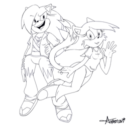 ::Commission:: The Hedgehog and the (part) Demon by Astronovi