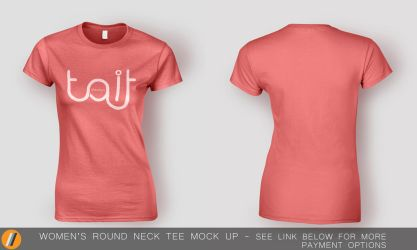 Women's Round Neck Tee Mock Up by TheApparelGuy