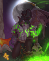 Warcraft Transition:  Illidan Stormrage by MischiArt