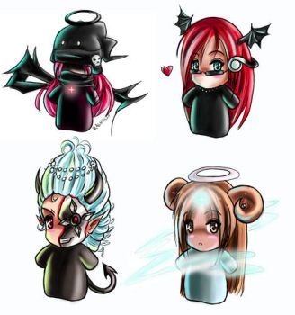 Weird chibi's by Ragna-Gaia