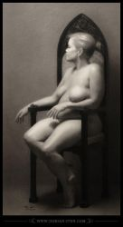 1666 Charlotte - Charcoal Nude by D0RIAN0