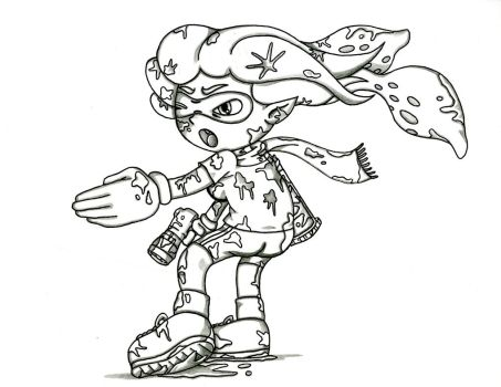 Splatoon Inkling Ambush by sonic171000