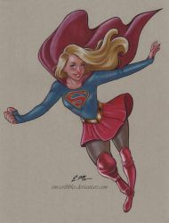 Supergirl Commission by em-scribbles