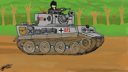 Luchs in his Tiger by LoneWolf071