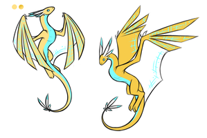 Angelos Wyverns by AngelicDragonPuppy