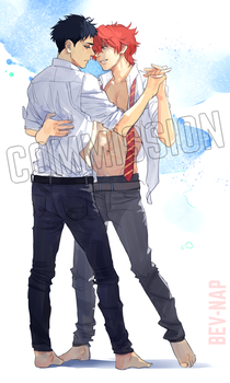 Sousuke/Kisumi (Commission) by Bev-Nap