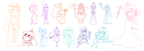The Queens of Mewni 2 - Character Design by jgss0109